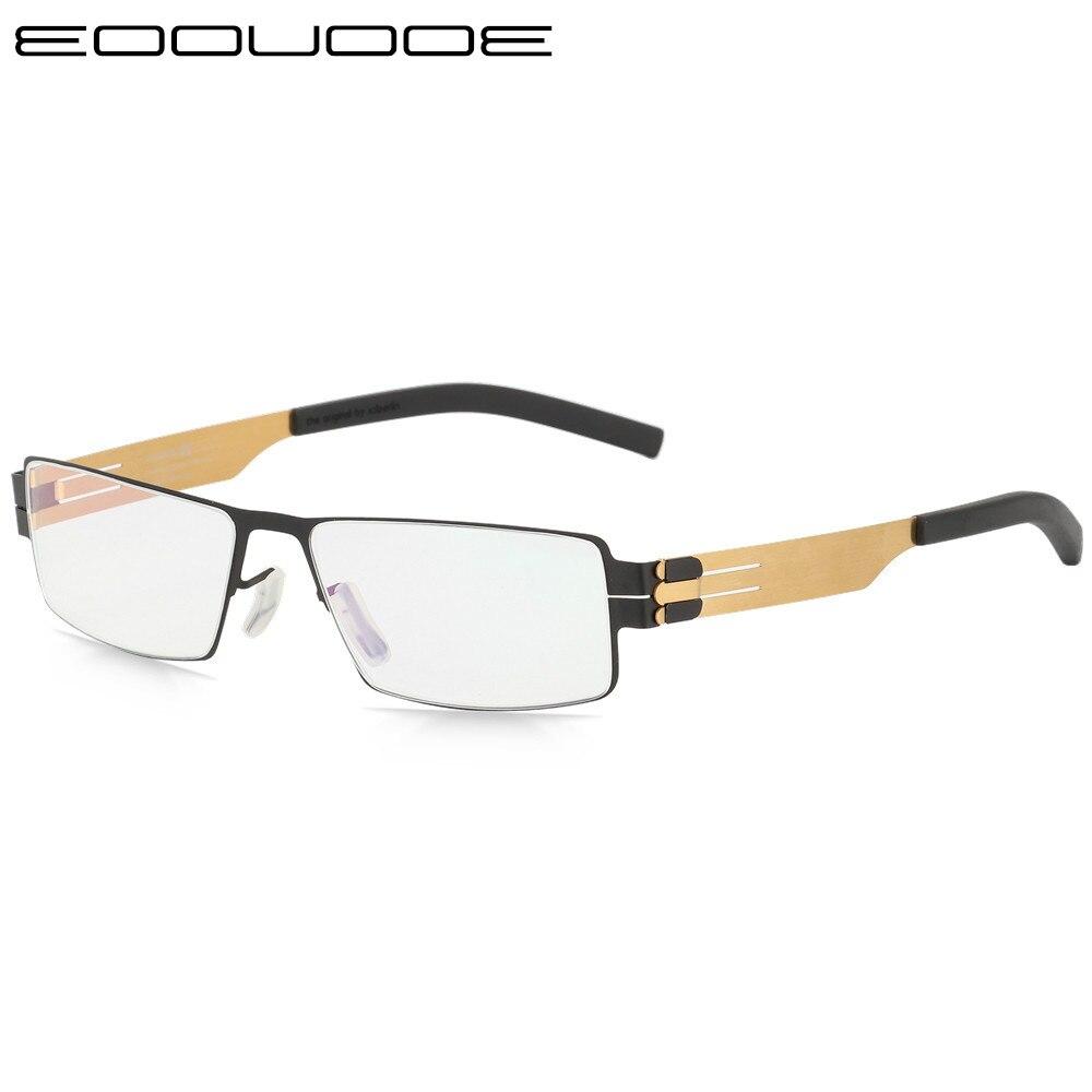 Montures de lunettes en titane IC allemagne Unique sans vis Design montures de lunettes Ultra légères Ultra minces hommes myopie monture de lunettes