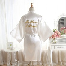 BZEL Mother Of Bride Robes Sexy Satin Lace Kimono Bridal Rob
