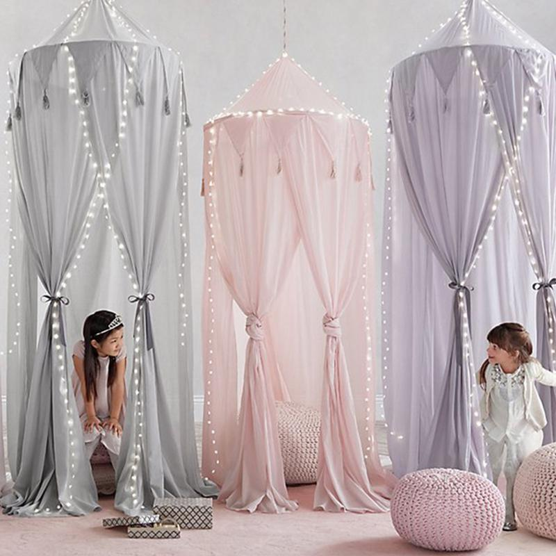 Baby Crib Netting Princess Dome Bed Canopy Childrens Bedding Round Lace Mosquito Net For Baby Sleeping Kids Bed Cover Pj-012 Baby Bedding Mother & Kids