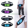 Unisex Nylon Slim Travel Water Bottle Pouch Cell Mobile Phone Hip Bum Waist Fanny Pack Bag