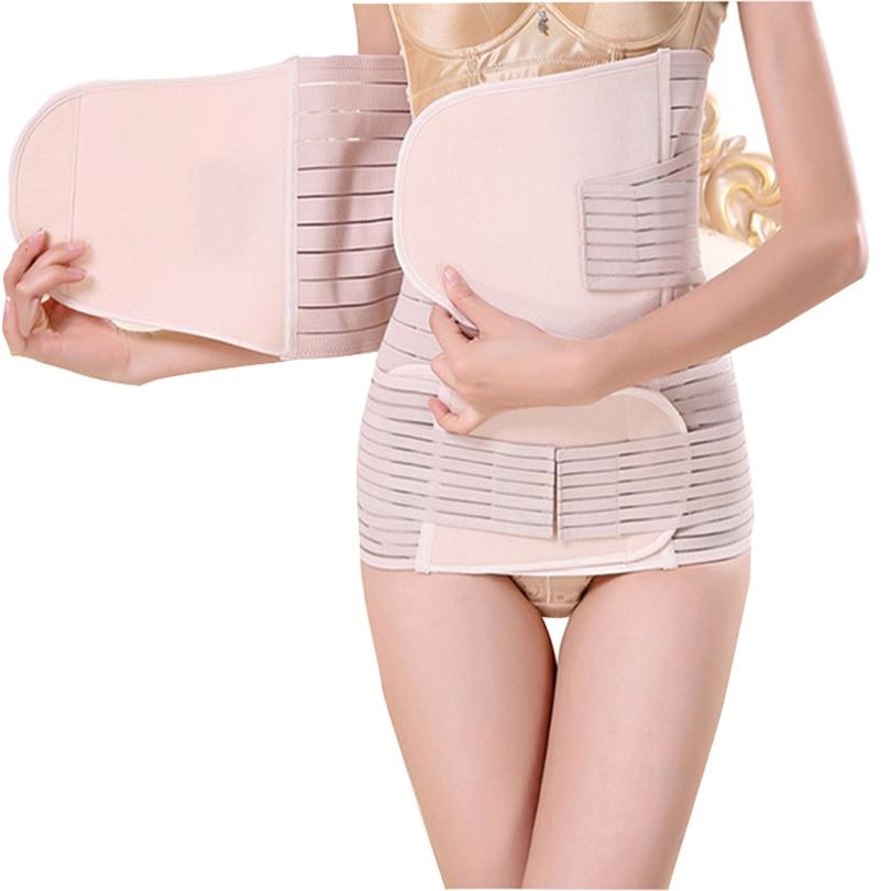 Menoea 2019 3 Pieces Set Maternity Postnatal Belt After Pregnancy Bandage Belly Band Waist Corset Pregnant Women Slim Shapers