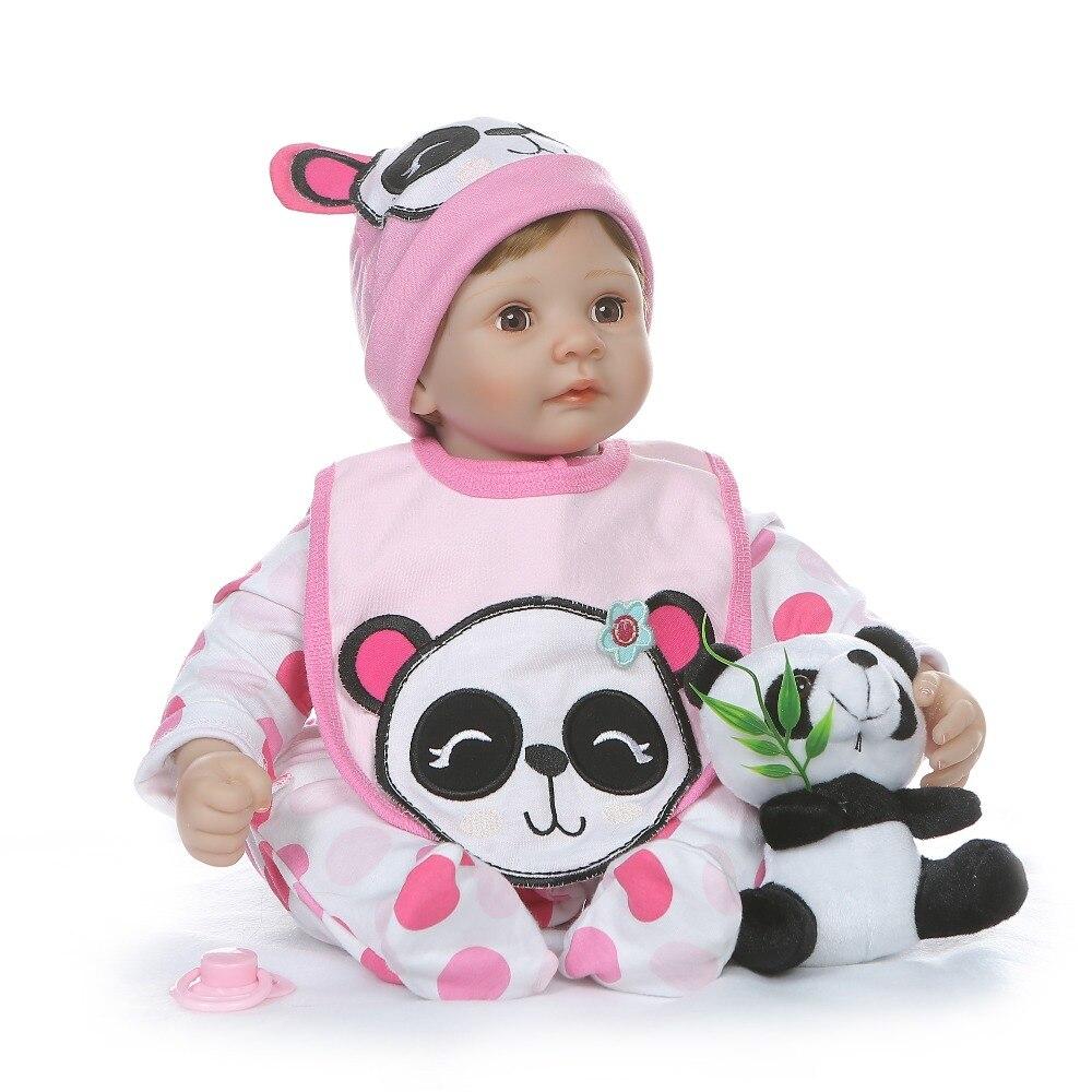 NPK 55 CM de peluche suave cuerpo de silicona 1/4 miembros muñeca ojos parpadean dulce bebé niña regalo de cumpleaños-in Muñecas from Juguetes y pasatiempos    3