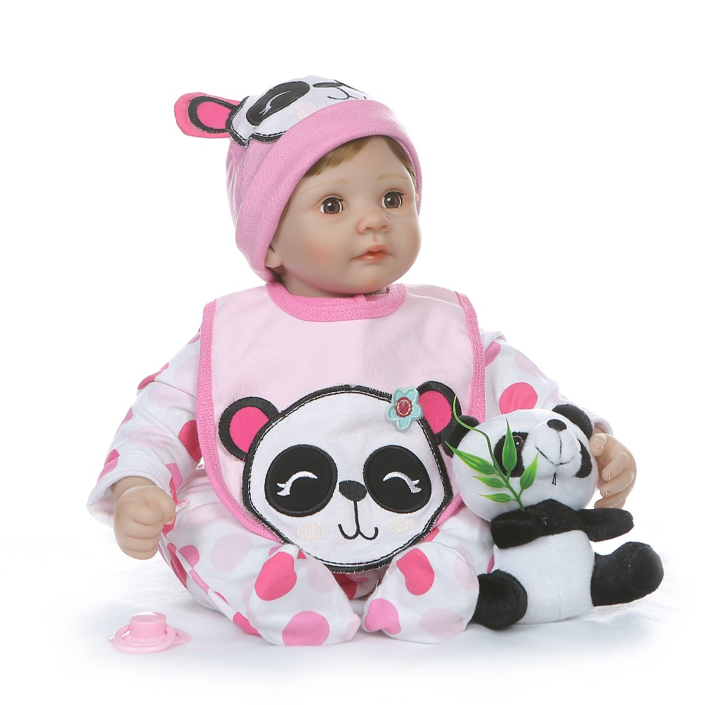 NPK 55 ซม. ตุ๊กตา body 1/4 ซิลิโคนแขนขา reborn ทารกตุ๊กตา blink สาวหวานเด็กวันเกิดของขวัญ-ใน ตุ๊กตา จาก ของเล่นและงานอดิเรก บน   3