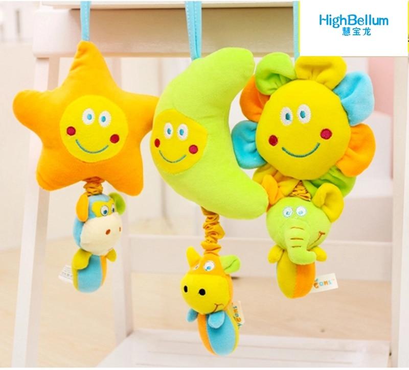 Newborn Infant Baby Pram Handbell Bed Stroller Hanging Animal Rattles Toy FG