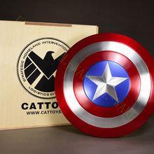 """Cattoys Капитан Америка щит 1/1 2"""" идеальный металл сделано версия Опора диаметр аниме модель коллекция подарок с оригинальной коробкой"""