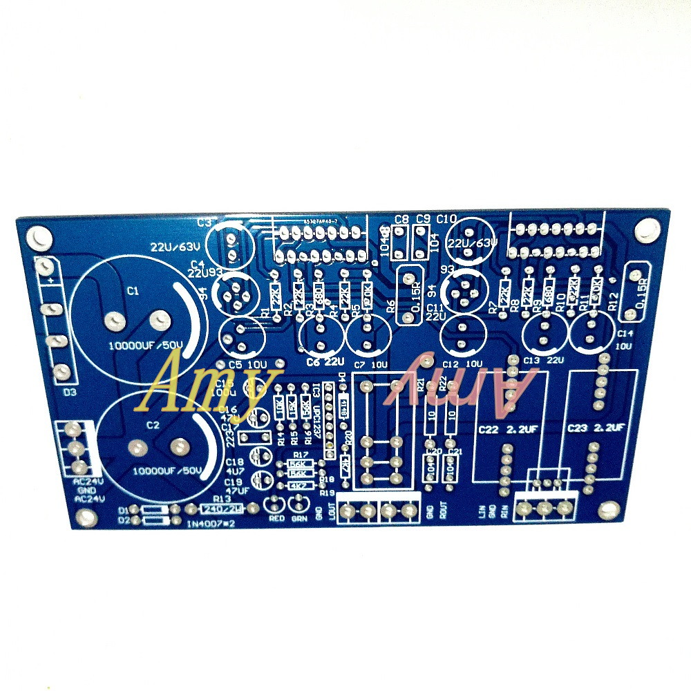 2pcs/lot TDA7293 7294 Double Channel, With Speaker Protection, PCB Empty Board