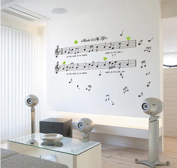 muursticker muziek-koop goedkope muursticker muziek loten van, Deco ideeën