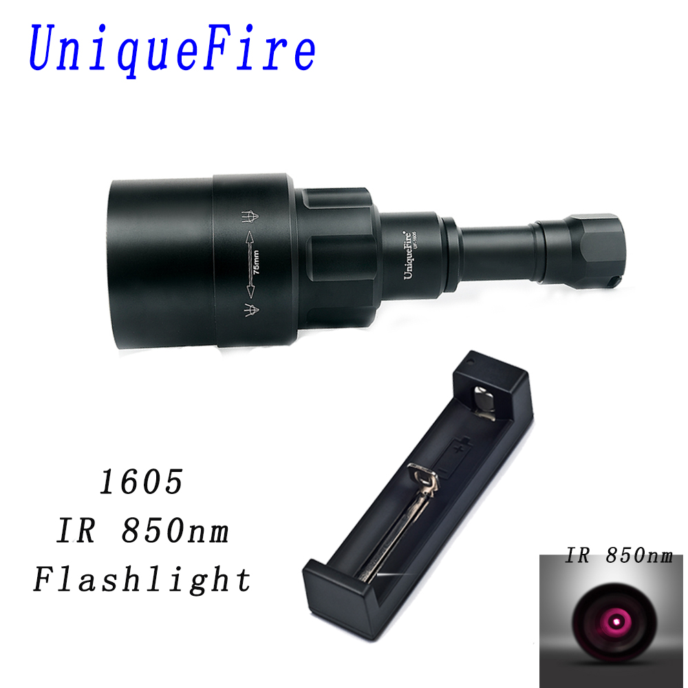 Infrared Light 850nm Torch Zoomable Focus Lamp Flashlight Hunting Handheld Light