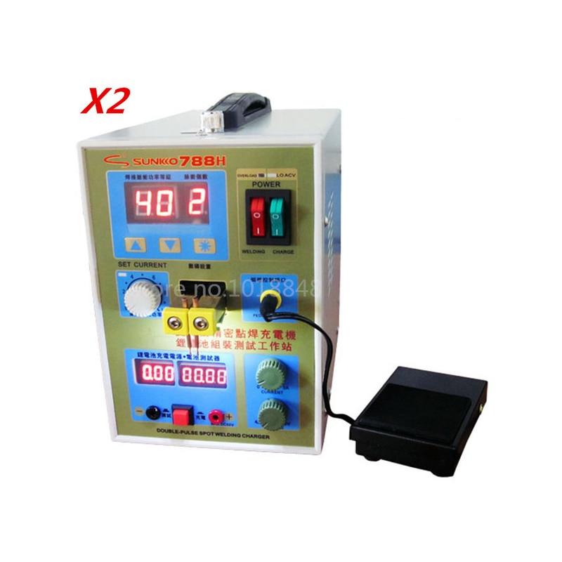 2 pcs/Lot Nouvelle mise à jour LED éclairage 788 H double impulsion de précision 18650 Spot Soudeur Batterie Soudeur, 788 h, 788 (220 V/110 V)