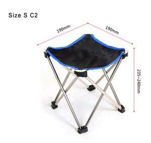 Image 2 - 屋外家具軽量釣り折りたたみ椅子アルミ合金ポータブル小椅子