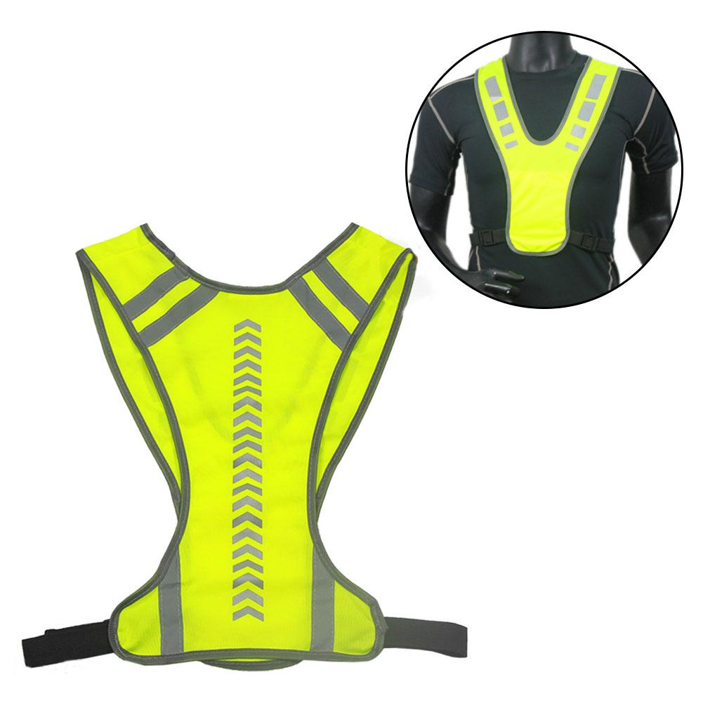Hiking Vests Rockbros Cycling Bike Bicycle Reflective Outdoor Vest Running Safety Jersey Sleeveless Breathable Vest Night Walking Vest Coat Hiking Clothings