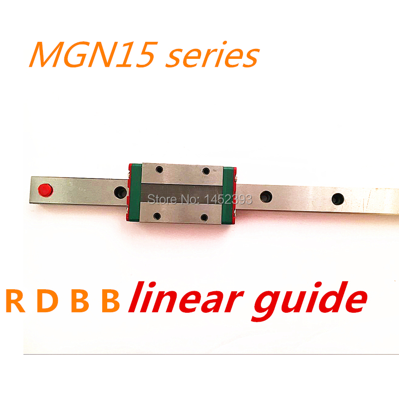 Free shipping 15mm Linear Guide MGN15 1500mm linear rail way MGN15H Long linear carriage for CNC