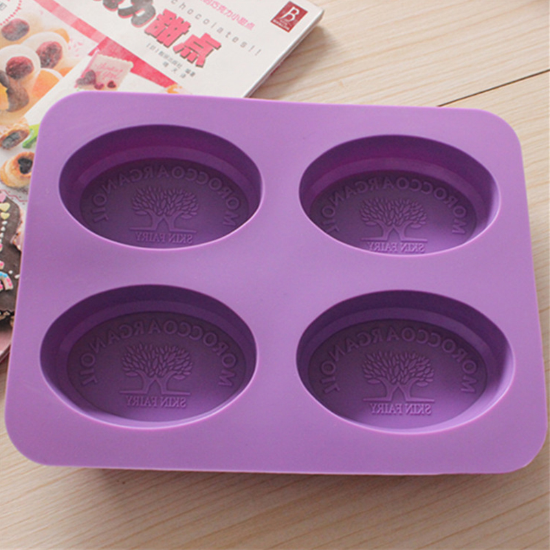 Soaps Mold Soap Making Tools Candle Silicone Molds Tree Shape DIY Handmade Soap 4 lattices Cake Mould Art Handcraft Baking Tools