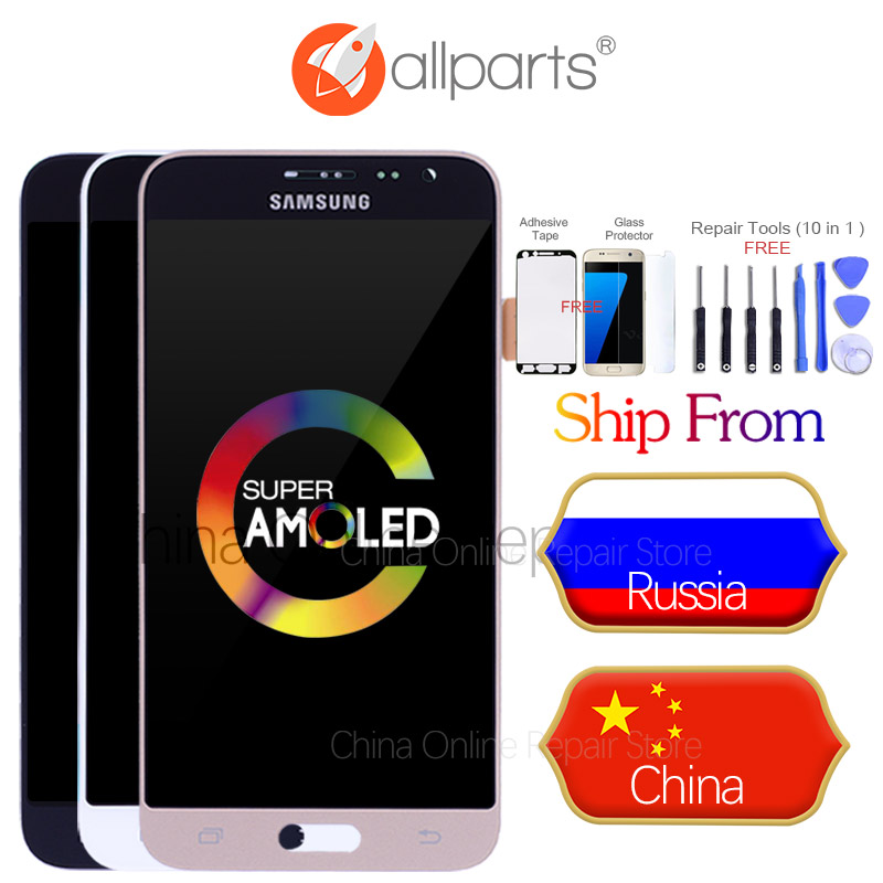 Best AMOLED 5.0 LCD for SAMSUNG J3 2016 Display J320 J320F LCD Touch Screen Digitizer for SAMSUNG Galaxy J3 2016 J320FN Display