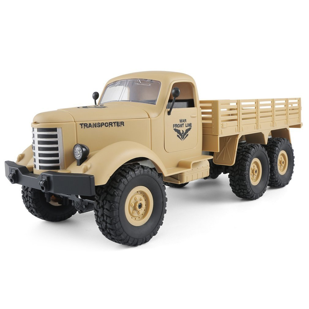 JJRC Q60 2.4G RC 1:16 Machine Remote Control 6 Wheel Drive Tracked Off-Road Military RC Truck Electric Toy for Children