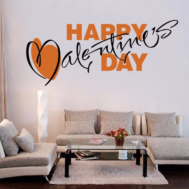 Aw9506 Valentine S Day Wall Decals Quote Decorations Living Room
