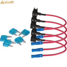 5 Pcs Car Auto 15A Add Circuit Mini Blade Fuse Boxe Holder Dual ACS ATO ATC Piggy Back Tap A TM Adapter