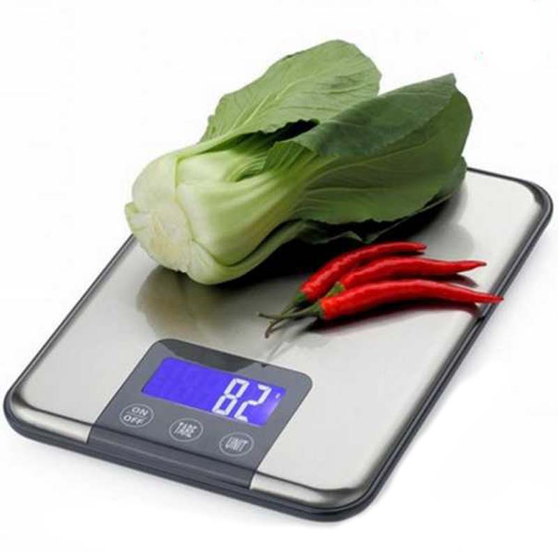 15KG 1g Touch Screen Digital Electronic Kitchen Scale Weight Big Food Diet Weight Balance Slim Stainless Steel Electronic Scales