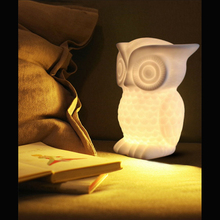 OWL Night Light Warm Lighting Table Reading Lamps Bedroom Home Decor Birthday Gift For Child Animal LED Night Light Lovely Lamp