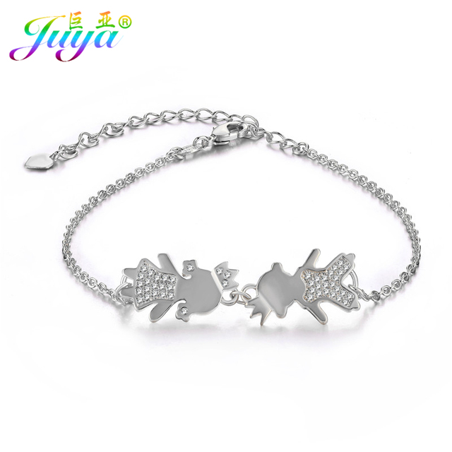 Friendship Jewelry Prince Boy Princess Charms Gold Chains Women Fashion Charm Bracelets Mothers Day
