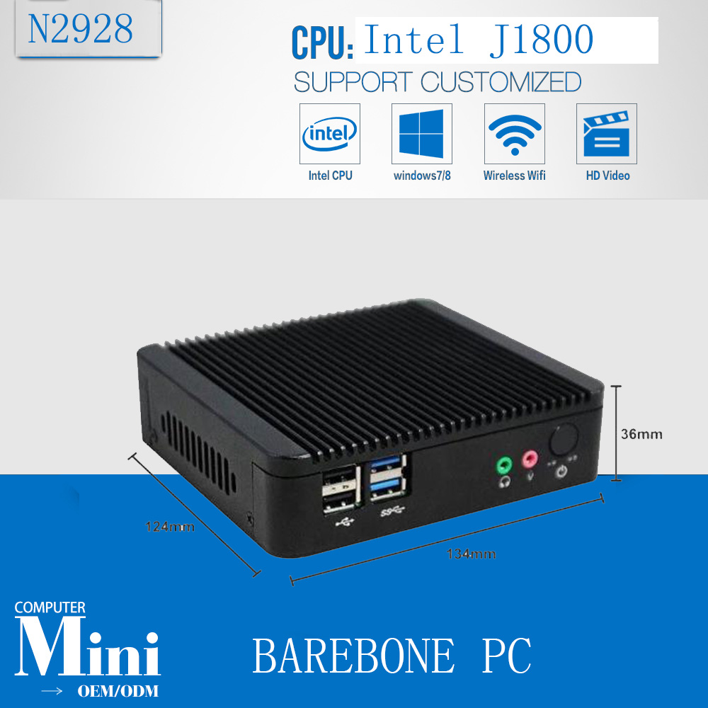 Micro pc mini computer Dual core J1800 mini pc Bay trial computer j1800 Barebone PC