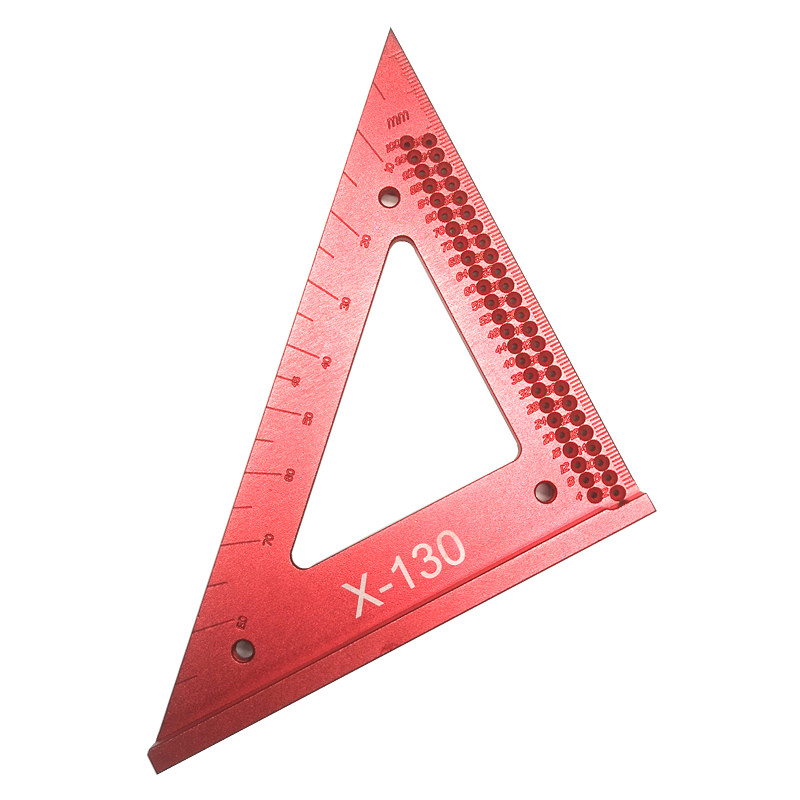 Woodworking Line Ruler Hole Scribing Gauge Precision Triangle Scribe Ruler Wood Working Crossed-out Measuring Tool