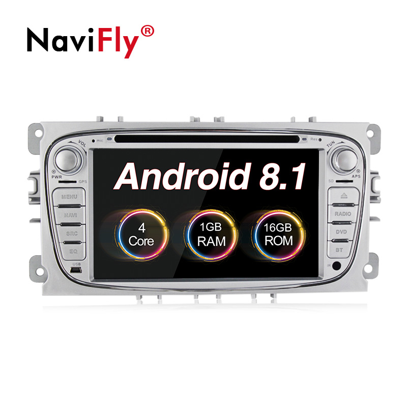 Android 8.1 2 din Quad Core Car DVD Player GPS Navi for Ford Focus Mondeo Galaxy Kuga S-Max C-Max with Audio Radio Stereo BT RDS