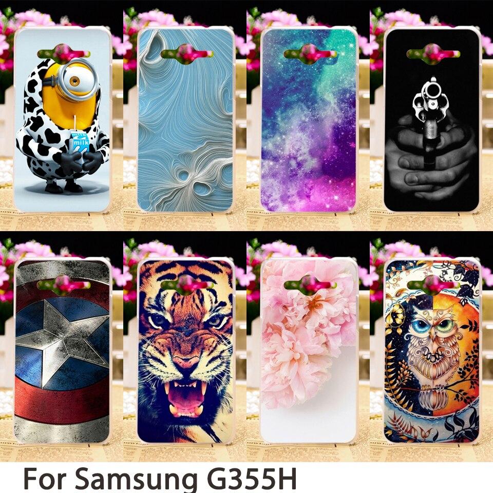 TAOYUNXI Official Store Soft Phone Cases For Samsung Galaxy Core II 2 G355M Dual SIM G355H Core2 G355 G3556D G3559 Hard Cover Skin Housing Sheath Bag