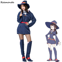 Anime Little Witch Academy KagariAtsuko Cosplay Costumes Akko Kagari Dresses Hat School Uniform For Women Girls Full Set Clothes