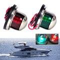 1 Par de Acero Inoxidable 12 V Luz de Navegación LED Arco Verde Rojo Señal de Luz de Vela Yate Barco Marina