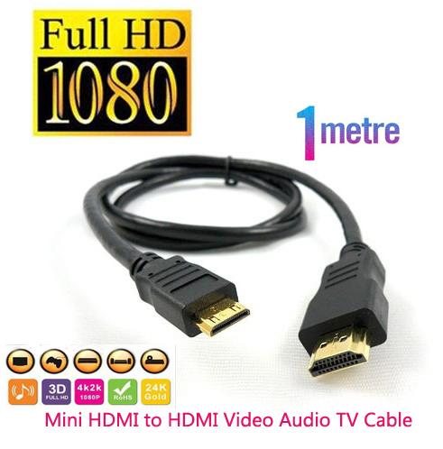 3 ft 1m Mini HDMI to HDMI Cable for Canon 5D Mark lll Free shipping