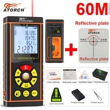 Cheapest prices ATORCH 60M Digital Laser Distance Meter Rangefinder Optical Tape Range Finder Diastimeter build Measure Roulette rule tester