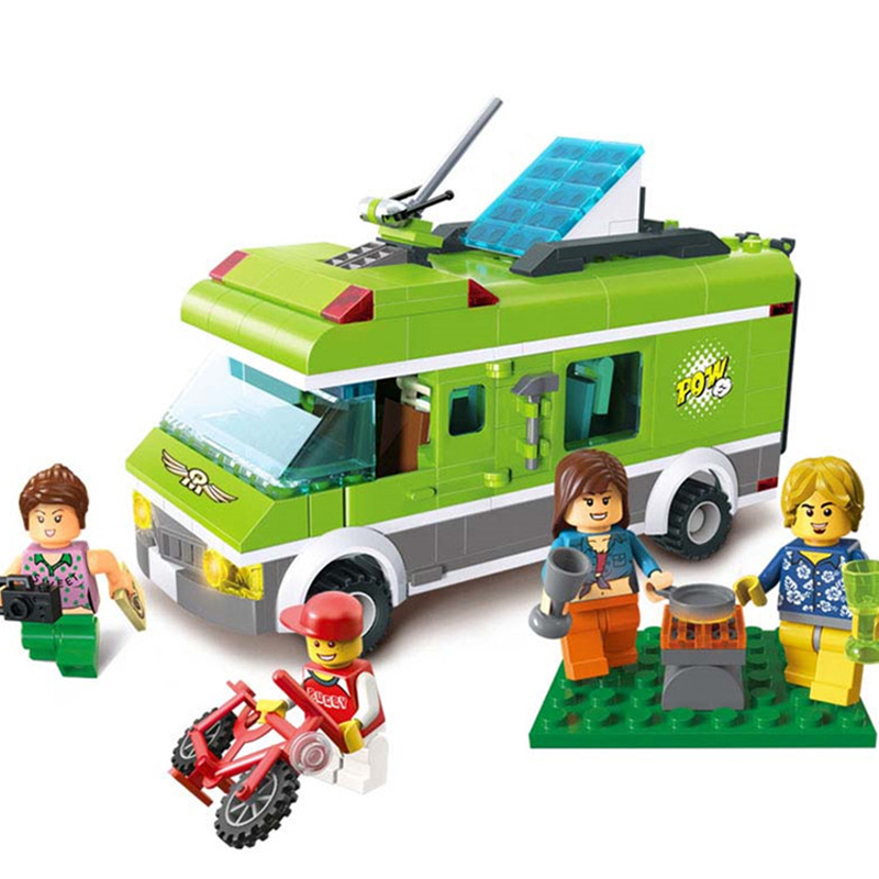 380pcs New Childrens Friends Series Building Blocks Compatible With Legoingly Travel Car Figures Bricks Birthday Gifts