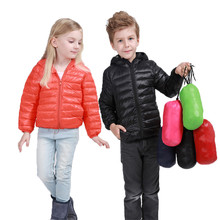 2017 New Baby Boys And Girls Winter Warm Coat Kid Hooded Cotton Padded Jacket Kid Fashion Snow Wear Down Solid Color Winter Coat
