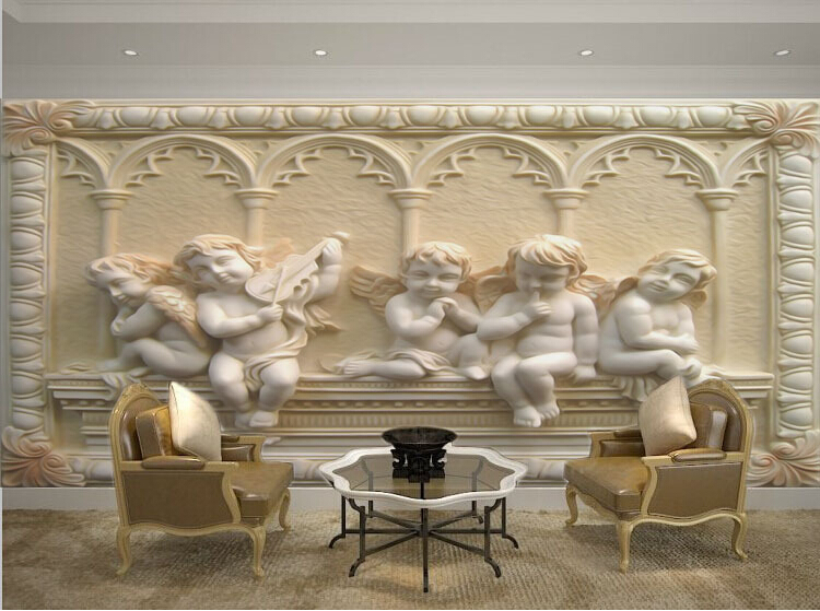 Aliexpress Buy Custom 3d Mural Wallpaper European Style Painting Stereoscopic Relief Jade Living Room TV Backdrop Bedroom Photo Wall Paper From