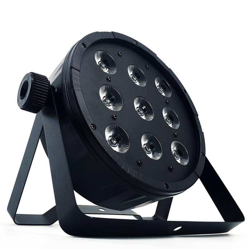 LED Flat Par 9x12W RGBW Lighting Controller DJ Luce Della Discoteca DMX512 Controller Disco Party Bar Strobe Effect