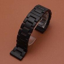 Pure Ceramic matte ceramic unpolished 20mm 22mm Ceramic Watchband for Samsung Gear S3 High quality wrist