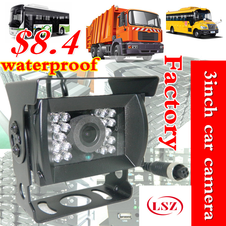 CCD BUS Truck Camera sony IR lights Rear View Reverse backup Camera rearview parking ahd video cable Night vision Waterproof factory truck bus camera ahd ccd rear view camera 24v truck camera iveco isuzu truck van trailer buses waterproof camera