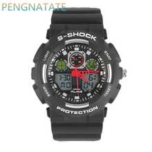 Fashion Men ALIKE Brand Watch Digital Sports Alarm Rubber Strap Watch Outdoor Military Shock Resistant Casual Watches PENGNATATE