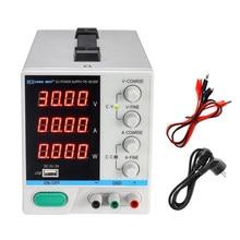 Régulateur de tension cc à affichage numérique, 30V, 10a, réglable, alimentation de laboratoire