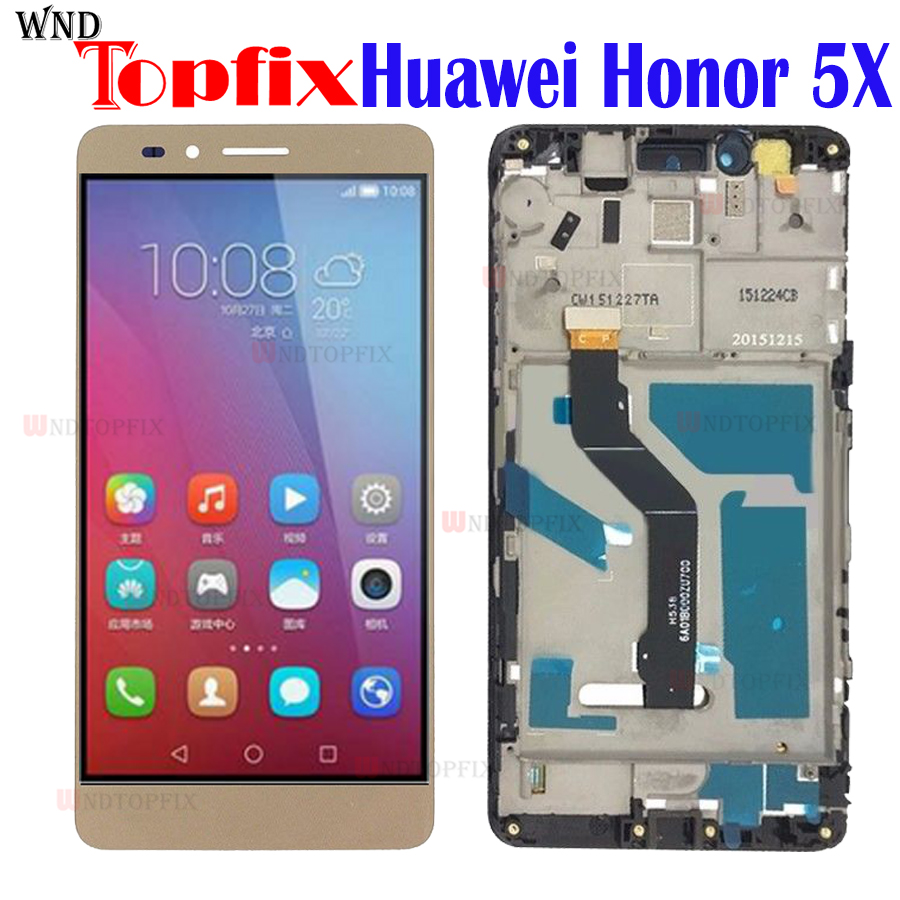 For Huawei Honor 5X LCD Touch Screen Digitizer Assembly Screen For Honor X5 LCD GR5 GR5W Screen With Frame honor 5X Display Mobile Phone LCD Screens     - title=