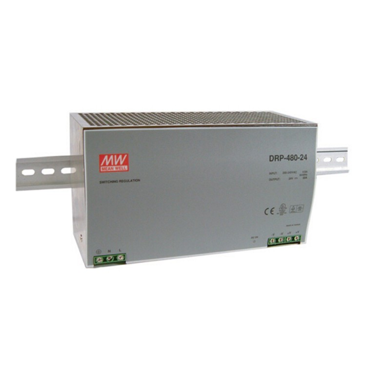 Original MEAN WELL 480W Single Output Din Rail Switching Power Supply With PFC Function DRP-480Original MEAN WELL 480W Single Output Din Rail Switching Power Supply With PFC Function DRP-480