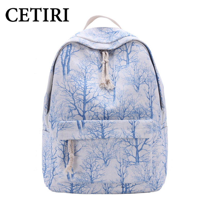 CETIRI Canvas Backpack Women Backpack Bagpack Backpacks Back Pack School Bags For Girls Mochila Escolar Sac A Dos Schoolbag tas rusoonnic backpack women leather composite backpacks mochila feminina bagpack girl school bags sac a dos bags for women 2017