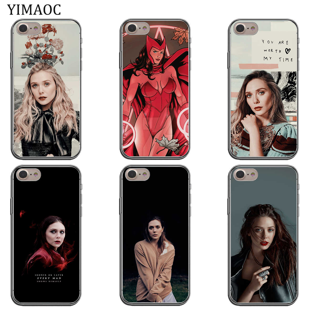 size 40 2c18d 6ec71 YIMAOC Elizabeth Olsen Scarlet Witch Marvel Soft Silicone Phone Case for  iPhone XS Max XR X 6 6S 7 8 Plus 5 5S SE 10 TPU Cover