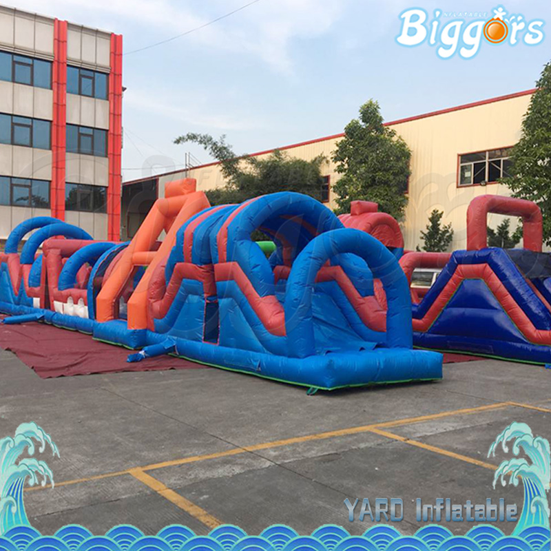 Inflatable Obstacle Course Equipment Game with Free Blower