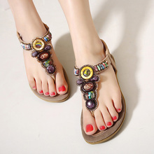 2017 Summer Flat Sandals Ladies Bohemia Beach Flip Flops Shoes Gladiator Women Shoes Sandles platform