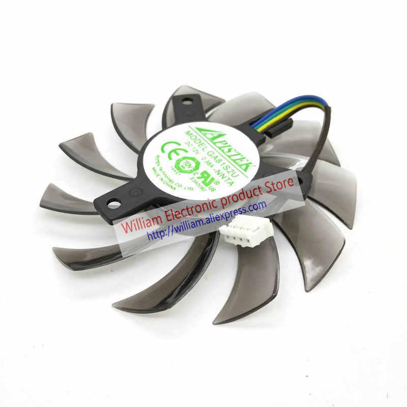 Ventoinha de vídeo original para evga gt430 gt440 gt630, ventilador de refrigeração da placa de vídeo ����dc12v 0.38a de diâmetro 74mm pitada 40mm