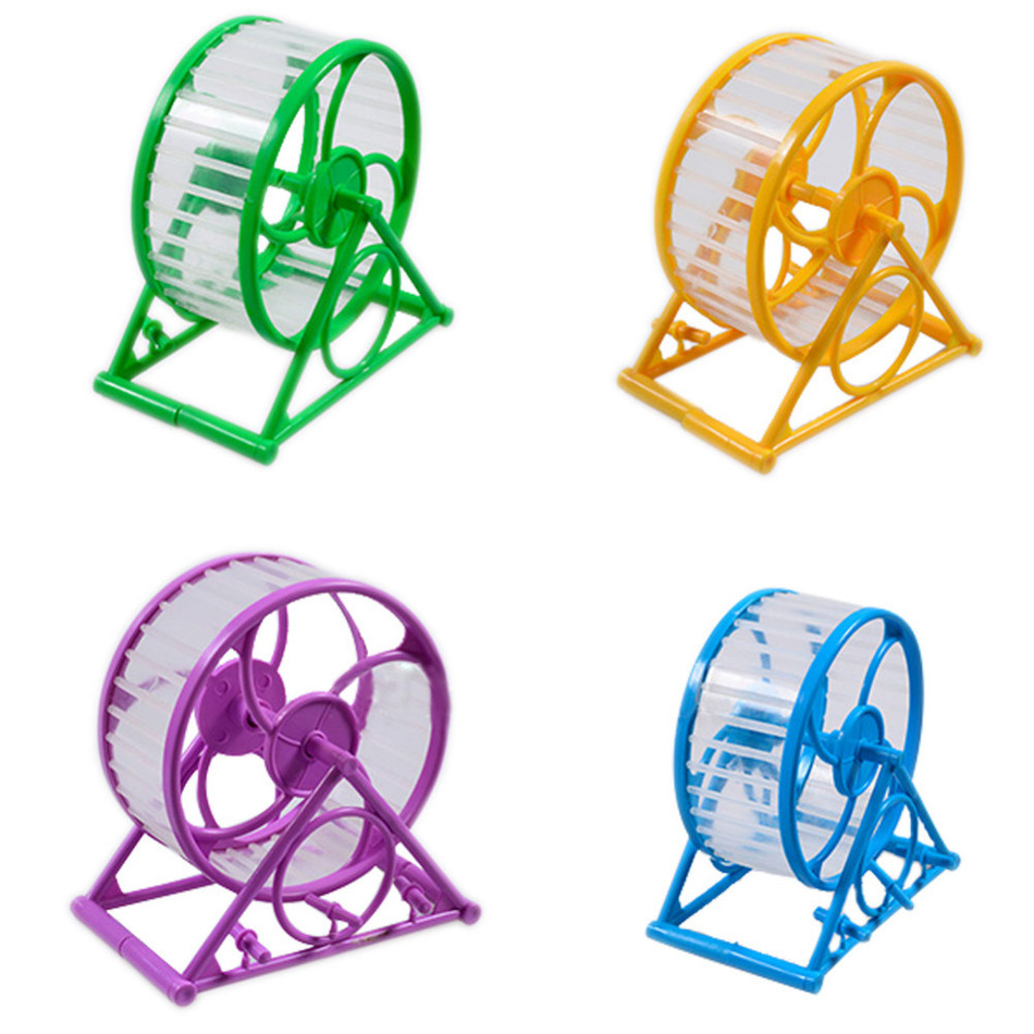 Best Selling Pet Jogging Hamster Mouse Mice Small Exercise <font><b>Toy</b></font> <font><b>Running</b></font> Spinner Sports Wheel Pets Supplies Random Color