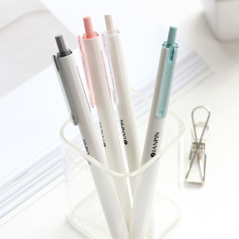 4Pcs JIANPIN Cute Gel Pen Stationary Kawaii School Supplies Gel Ink Pen School Stationary Office Suppliers Kids Gift Study Pen