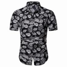 Dress Shirt Floral Hawaiian Beach leisure Style Blouse Men clothing Flower Mens Casual Summer